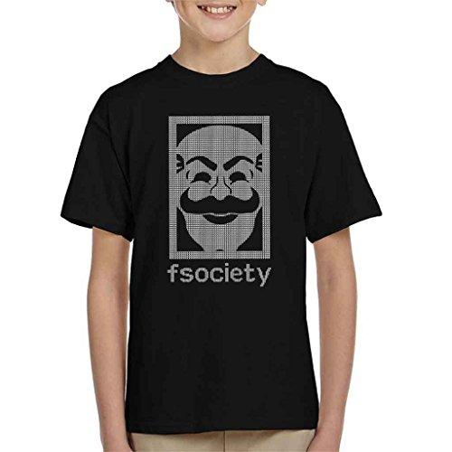 Mr Robot Fsociety Christmas Knit Pattern Kid's T-Shirt
