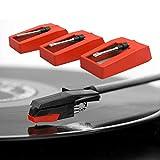 Agujas para tocadiscos, aguja de repuesto para tocadiscos Stylus para fonógrafo de reproductor de vinilo Lp (3pcs)