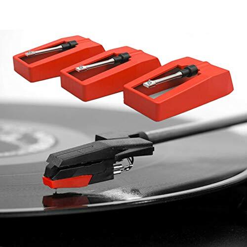 Aghi per giradischi, ago per registratore di ricambio per giradischi stilo per fonografo per lettore di vinile LP (3pcs)