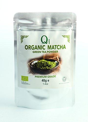 Qi Organic Matcha green tea powder 40g (Case of 8)