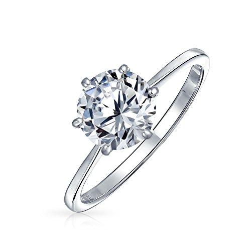 Simple 1.25CT 6 Prong brillante corte AAA CZ solitario anillo de compromiso para las mujeres 1mm banda delgada 925 plata de ley