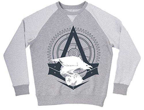 Assassin's Creed Syndicate The Rooks Sweat-Shirt de Sport, Gris, M Homme