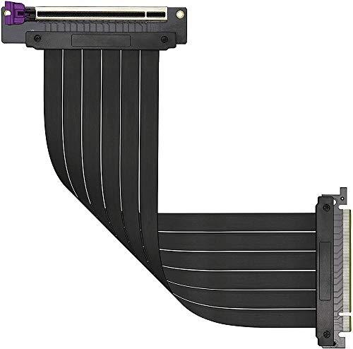 Cooler Master MasterAccessory Riser-Kabel PCIe 3.0 x16 Ver. 2 - EMI-geschirmtes, ultra-flexibles TPE-Kabel, verstärkte PCI-Steckplätze, Gold-Pin-Anschlüsse, ABS-Schutzgehäuse - 300 mm