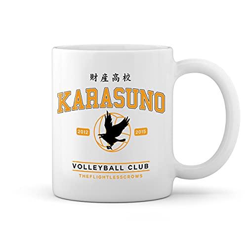 Karasuno High School Shield Blanco taza Mug