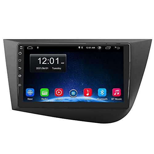AWESAFE [Android 10.0 2GB+32GB] Radio Coche para Seat Leon MK2 2005-2012, Autoradio de 9 Pulgadas con Pantalla Táctil,con WiFi GPS Bluetooth DSP RDS USB FM AM RCA,Apoyo Mandos del Volante,Aparcamiento