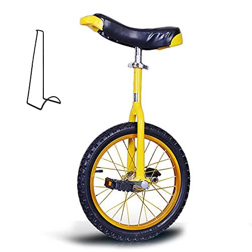 ZLI Monociclo Monociclos de Servicio Pesado para Adultos 16/18/20 Inch, Altura 120-180cm Personas/Principiantes Ciclismo de Equilibrio al Aire Libre, Fácil de Montar, Amarillo (Size : 18 Inch)