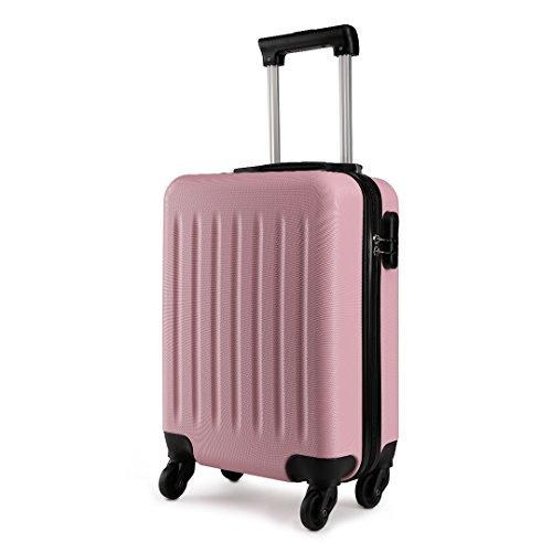 Kono 19 inch Children's Luggage Lightweight ABS 4 Wheel Spinner Suitcase Cabin Travel Case (Pink)