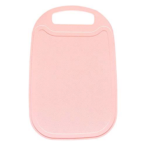 Tabla de cortar para cocina, tabla de cortar de paja de trigo ecológico con ranuras de jugo y mango de fácil agarre, apto para lavavajillas, no arañazos (rosa)