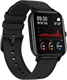 Smart Watch for Women Men, Fitness Activity Tracker con Monitor de Ritmo cardíaco, Step Calorie Counter Sleep Monitor, Smartwatch Impermeable para iPhone Android (Color : Earl Black)
