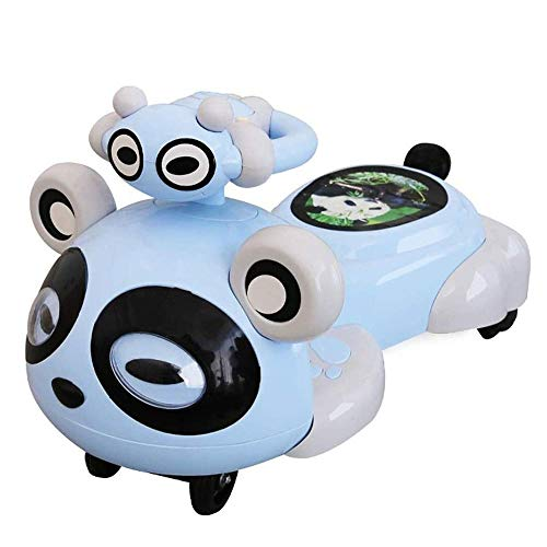 Amazing Deal SMLZV Children Panda Twist Car,Mute Wheel Slide PU Light Wheel Yo Car Suitable - for 2-...