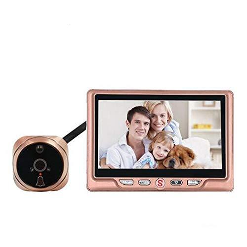 Doorbell JFW-4.3 'LCD-deurspion-camera toekijker deurbel 120 graden bewegingsdetectie deurbel video-deurspion met nachtzicht