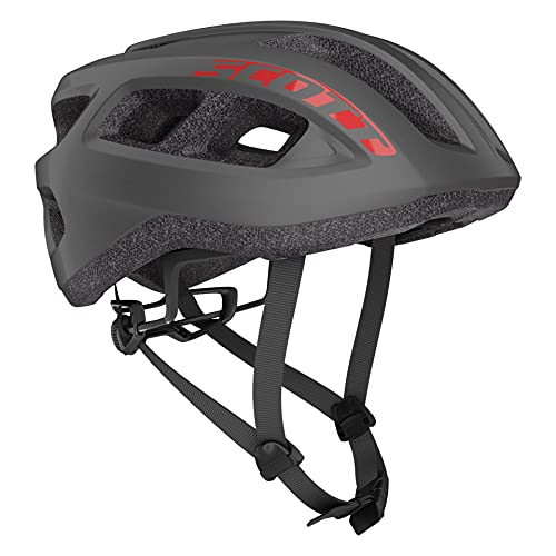 SCOTT 275217, Casco Bici Unisex Adulto, Dark Grey/re, 1size
