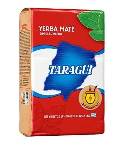 Yerba Mate (Hierba Mate) con palo Taragüi Original 1 kg. Bebida energética con excelentes propiedades nutricionales. Paquete de 1 kilo.