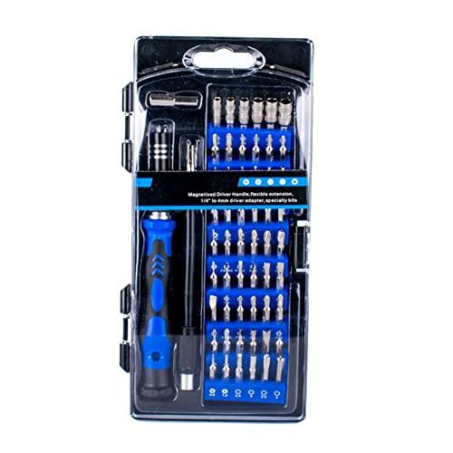 TISHITA Juego de Destornilladores de precisión 58x en 1, Multifuncional, Herramientas Profesionales de Bricolaje, Kit de Puntas de Destornillador de