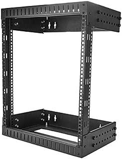 StarTech.com Wall Mount Server Rack - 12U Rack - 12-20in Adjustable Depth - Open Frame - Network Rack - Computer Rack - Equipment Rack (RK12WALLOA)