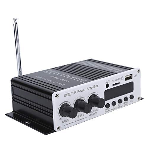 Socobeta Amplificador de audio estéreo Hi-Fi de alta calidad con carcasa de aluminio y carcasa de metal para reproductores digitales MP3 móviles con ordenador de disco