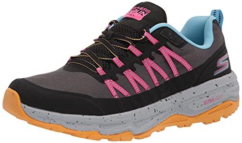 Skechers Performance Women's GO Run Trail Altitude-River Sneaker, Black/Light Blue, 6
