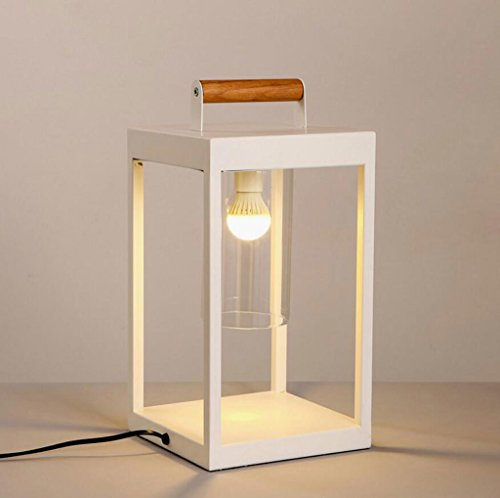 Lampe de table lampe de bureau Lampe de table en fer chambre à coucher lit de chevet salon décor de l'hôtel décoré lampe de table classique créatif blanc art de la mode table lampe de table, E14