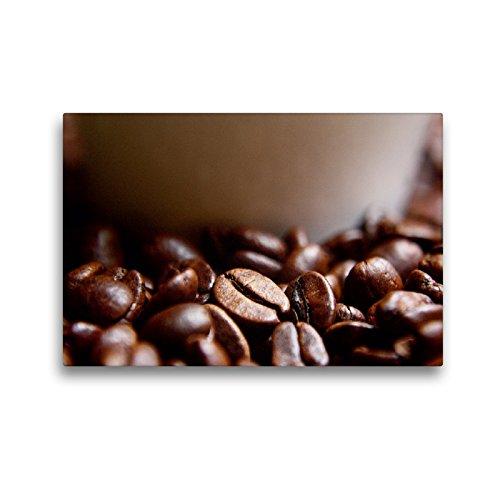CALVENDO Premium Textil-Leinwand 45 x 30 cm Quer-Format Frische Kaffeebohnen, Leinwanddruck von Lilo Kapp