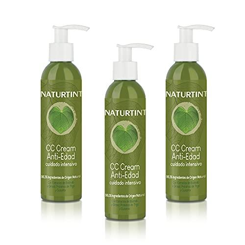 Naturtint CC Cream Antiedad - Pack 3 Unidades. Apto Método Curly. Tratamiento reparación intensa. Mascarilla Capilar sin aclarado. Fuerza, volumen y +80% efecto anti-rotura.