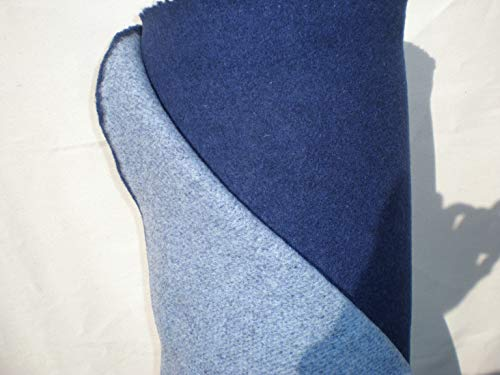 Walkloden Doubleface Stoff - blau/hellblau