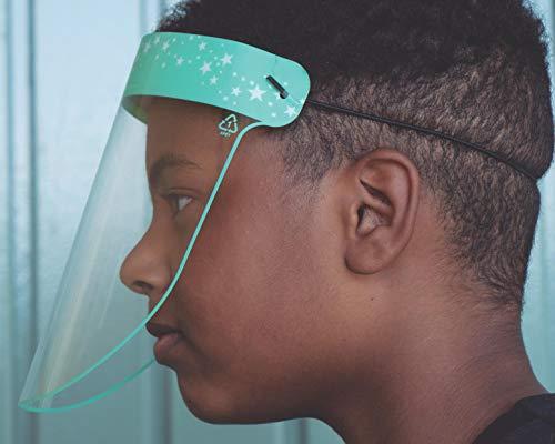 Máscara de Protección Facial Frente a Salpicaduras Reutilizable (18,7x26,5)- Pantalla con Óptima Visión Gracias a sus Materiales de Fabricación - Pack de 25 Unidades, Niño