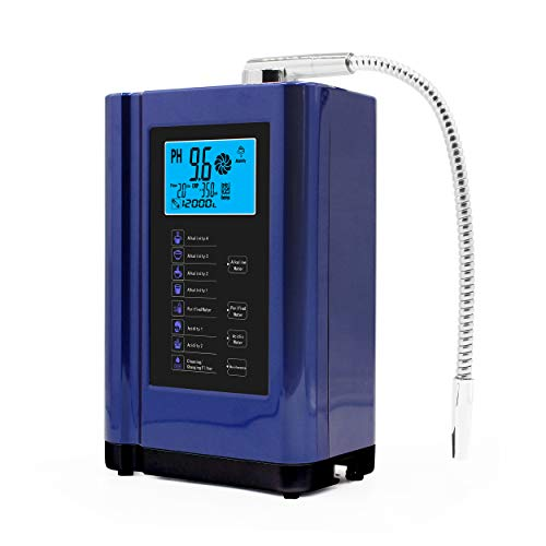 AlkaDrops Water Ionizer, Water Purifier Machine PH 3.5-10.5 Alkaline Acid Water Machine,Up to -500mV ORP, 6000 Liters Per Filter,7 Water Settings,Auto-Cleaning,Intelligent Voice(blue color)