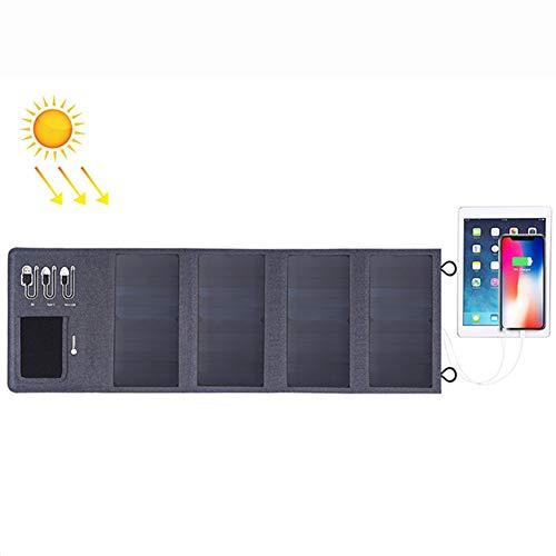 WNTHBJ 28W 4ST mobiele stroom 8000mAh zonne-oplader, opvouwbaar paneel USB, mobiele stroomvoorziening, familie reis (2 stuks)