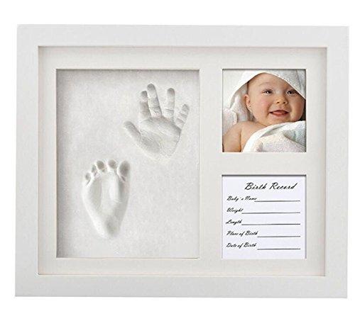 CHSEEA Baby Handabdruck und fußabdruck Mit Bilderrahmen Baby-Abdrücke Set - Baby Erinnerungen Baby-Schatzkästchen Andenken Set ideale Babygeschenk zur Babyparty, Geburt & Taufe #1