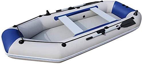 JWCN 3M Outdoor Rafting Schlauchboot Set 490 kg Dickes PVC-Material mit Ruderseil und Luftpumpe aushalten-Blau Uptodate