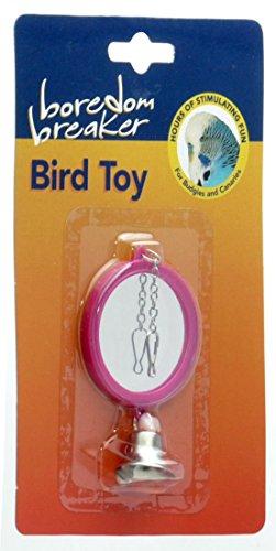 (Boredom Breaker) vogel speelgoed dubbelzijdig spiegel roze