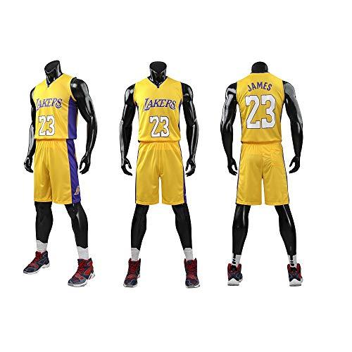 Dwin Maglie da carrello per Bambini Jersey NBA Bulls Jordan 23, Lakers 23 James / 24 Bryant, Guerrieri 30 Curry / 35 Durant Completi Abbigliamento 5XL per gli adulti (185,19 mila centimetri) Giallo