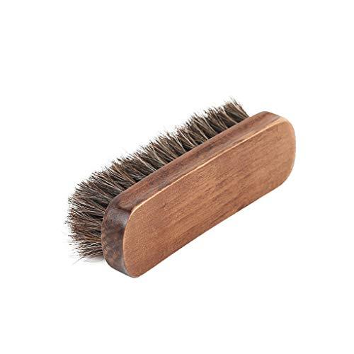 Hotaluyt Weiches Haar Bristles Schuhe Polnisch-Bürsten-Holzgriff Leahter Schuhe Boots Möbel Polieren Reinigungsbürste