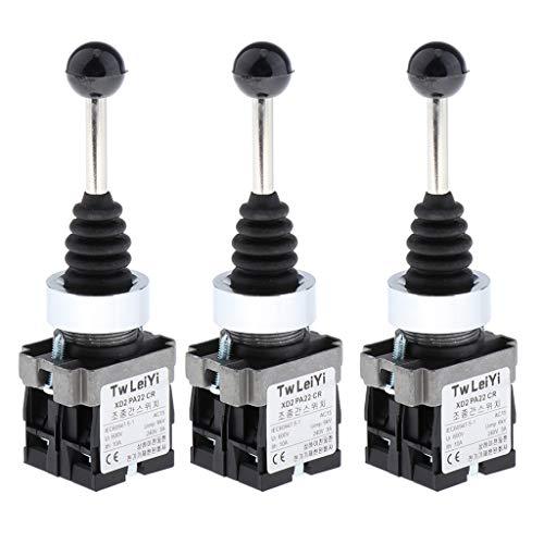 SDENSHI - 3 interruptores de palanca de 2 onzas con interruptor de Joystick de recordatorio automático y muelle de 2 posiciones