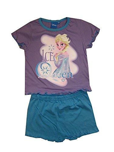 Frozen Die Eiskönigin ELSA 2tlg. Schlafanzug Pyjama kurz Flieder blau (92/98)