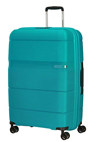 American Tourister Linex - Maleta, talla L (76 cm, 102 L), Azul (Blue Ocean)
