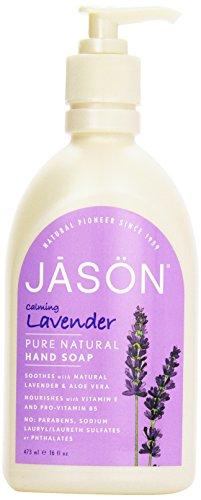 Jason Natural Cosmetics Lavender Liquid Satin Soap, 16 oz