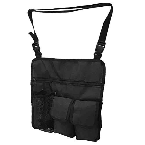 A sixx Bolsa de armazenamento pendurada, impermeável para uso ao ar livre, fivela ajustável para cadeira de praia, bolsa mensageiro, bolsa de tecido Oxford portátil, acessório de armazenamento para armazenamento externo (preto)