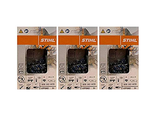3 pk) 16' Stihl Chainsaw Picco Micro Oilomatic Saw Chain 61PMM355 3/8p .043 55dl