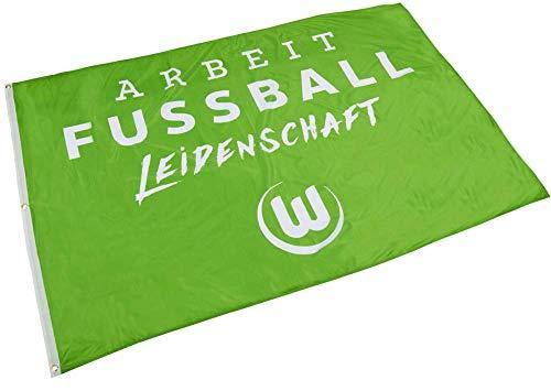 Flaggenfritze Hissflagge VFL Wolfsburg - 120 x 180 cm + gratis Aufkleber