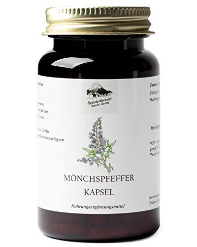 KRÄUTERHANDEL SANKT ANTON® - Mönchspfeffer Kapseln - Hochdosiert - Deutsche Premium Qualität (180 Kapseln)