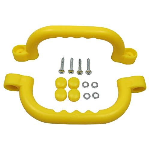 Gartenpirat Haltegriffe gelb Zubehör Spielanlagen Set mit 2 Handgriffe für Kinder