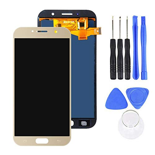 Auleset Kit de herramientas de reemplazo del digitalizador de la pantalla LCD digital para la galaxia A7 de Samsung - dorado