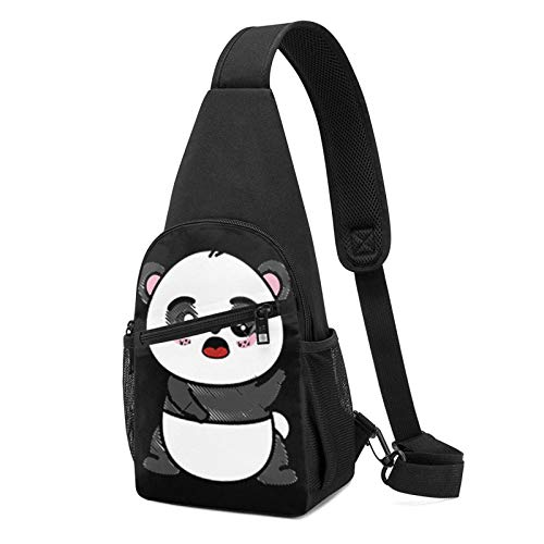 DJNGN Mochila ultraligera aislada del paquete del pecho de la mochila del pecho del oso panda lindo