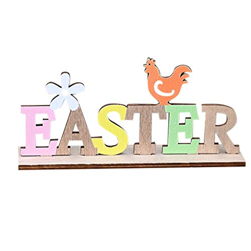 Easter Letters Decor Wooden English Letters Crafts Easter Letters Design Craftwork Creative Simple Easter Letters Desktop Ornaments for Home Party Bar Decor Easter Style