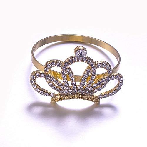 MZW 10 Stück Hochzeit Esstisch Strass Krone Serviette Schnalle Diamant Serviettenring Papier Handtuch Ring