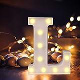 Lettres de l'alphabet à LED avec lumière blanche chaude pour décoration d'intérieur, fête, bar, mariage ou festival