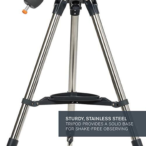 Celestron - AstroMaster 114EQ Newtonian Telescope - Reflector Telescope for Beginners - Fully-Coated Glass Optics - Adjustable-Height Tripod - Bonus Astronomy Software Package