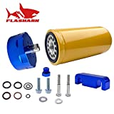 1R-0750 GM Chevy GMC Duramax 6.6L Diesel Fuel Filter & Adapter Kit 2001-2016 Duramax LB7/LLY/LBZ/LMM/LML(blue, kit)