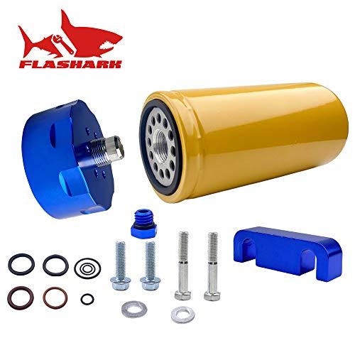 1R-0750 GM Chevy GMC Duramax 6.6L Diesel Fuel Filter & Adapter Kit 2001-2016 Duramax LB7/LLY/LBZ/LMM/LML(blue, kit)